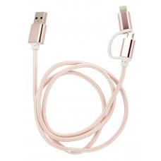 USB кабель 2в1 1910h трансформер usb-microUSB-lightning