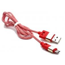 USB-microUSB кабель 707 тканевый сетка