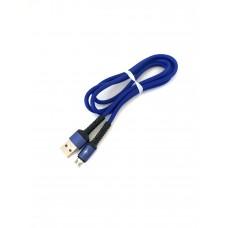 USB-microUSB кабель 751, тканевый однотонный