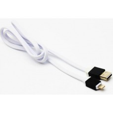 USB-lightning кабель 814 iphone 5/6 плоский, тканевый шнур