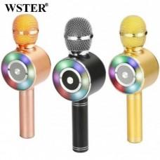 Караоке микрофон WS-669 с Bluetooth и USB, SD, FM, AUX