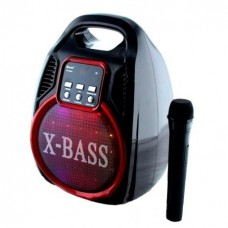 Колонка-чемодан Golon RX-820BT со светомузыкой, с микрофоном +bluetooth, USB флешка, SD карта, AUX, на аккум. (38х24х21см)