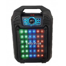 Колонка-чемодан mini B15 со светомузыкой 9W +bluetooth, USB флешка, SD карта, AUX, на аккум. (32х21х13,5см)