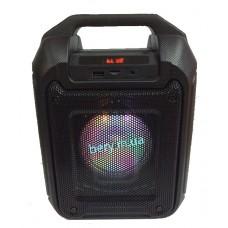Колонка-чемодан mini B315-B со светомузыкой, с микрофоном, кронштейн 9W +bluetooth, USB флешка, SD карта, AUX, на аккум. (29х20х13,5см)