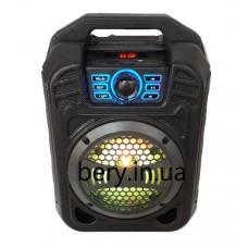 Колонка-чемодан mini BS12 со светомузыкой 9W +bluetooth, USB флешка, SD карта, AUX, на аккум. (34х23х14см)