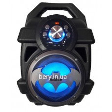 Колонка-чемодан mini HY-01 со светомузыкой +bluetooth, USB флешка, SD карта, AUX, на аккум. (37х25х19см)