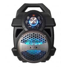 Колонка-чемодан mini HY-02 со светомузыкой +bluetooth, USB флешка, SD карта, AUX, на аккум. (37х25х19см)