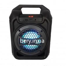 Колонка-чемодан mini B30 со светомузыкой 9W +bluetooth, USB флешка, SD карта, AUX, на аккум. (28,5х21х13,5см)