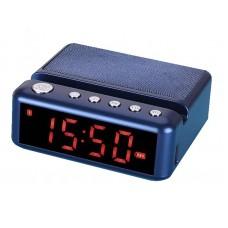 Колонка HDY-G24 с часами + bluetooth, USB флешка, SD карта памяти, подставка под телефон