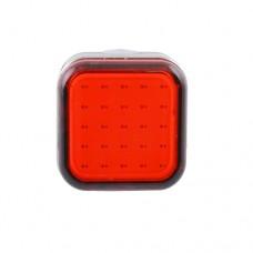 Задняя велофара RPL-2287-3-COB красный, аккум., USB зарядка