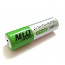 Аккумулятор MLQ 18650, Li-Ion 2500mAh 3.7V, 2шт.
