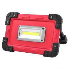 Прожектор LED 822-COB 30W, портативный от 4х18650 аккум., microUSB зар., power bank