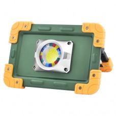Прожектор LED 823-COB 30W, портативный от 4х18650 аккум., microUSB зар., power bank