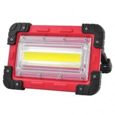 Прожектор LED 824-COB 30W, портативный от 4х18650 аккум., microUSB зар., power bank