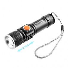 Фонарь 515-T6, zoom, USB зарядка