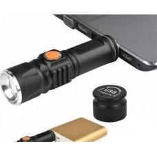 Фонарь 616-T6, zoom, USB зарядка
