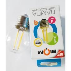 Светодиодная лампочка FL-301 4W E27, теплый белый