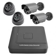 Комплект видеонаблюдения рег.+4кам. KN1004DP