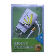 Адаптер сетевой 2145 с кабелем USB +2USB