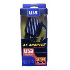 Адаптер сетевой 2146 с кабелем USB +2USB