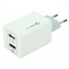 Адаптер сетевой Quick Charger AR-QC-02 2USB (5V- 3,5A; 9V-2A; 12V-1,5A)