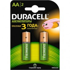 Аккумуляторы Duracell AA HR6 Ni-MH 1300mAh 1.2V 2шт