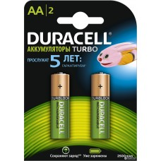 Аккумуляторы Duracell AA HR6 Ni-MH 2400mAh 1.2V 2шт