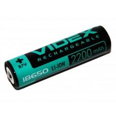 Аккумулятор Videx 18650-P с защитой Li-Ion 2200mAh 3.7V 1/20/160шт