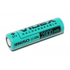 Аккумулятор Videx 18650 без защиты Li-Ion 2800mAh 3.7V 1/50/600шт