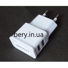 Адаптер сетевой Samsung 1961 с 220V на 2 USB
