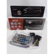 Автомагнитола 1Din 2018 еврофишка, с радиатором +USB, SD, AUX