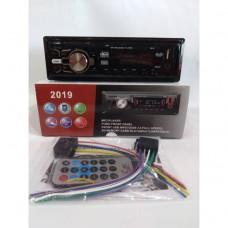 Автомагнитола 1Din 2019 еврофишка, с радиатором +USB, SD, AUX