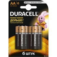 Батарейки Duracell - Basic alkaline MN1500 AA LR6 1.5V 6шт