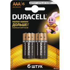 Батарейки Duracell - Basic alkaline MN2400 AAA LR03 1.5V 6шт