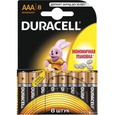Батарейки Duracell - Basic alkaline MN2400 AAA LR03 1.5V 8шт