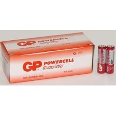 Батарейки GP - Powercell АА R6 1.5V 40/1000шт красные