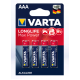 Батарейки Varta - Long Life Max Power ААА LR03 1.5V 4/40/200шт