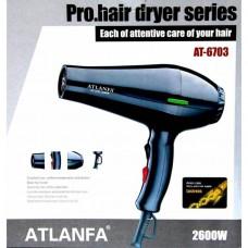 Фен для укладки волос c насадкой AT-6703, 2600W