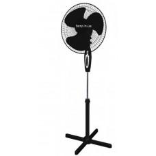 Вентилятор напольный 2340, 3 скорости с подсветкой, черный