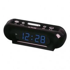 Сетевые настольные часы VST 716-5 голубые