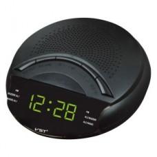 Часы сетевые 903-2 Зеленые + Радио