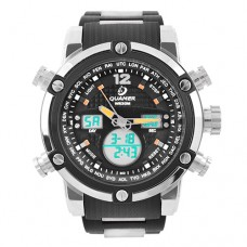 Часы наручные Quamer 1526 водонепроницаемые, карбоновый ремешок