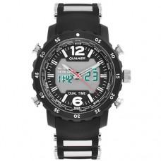 Часы наручные Quamer 1604 водонепроницаемые, карбоновый ремешок