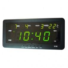 Часы сетевые 2158-2 Зеленые