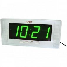 Часы сетевые 729-2 зеленые