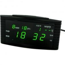 Часы настольные сетевые 838-2 Зеленые