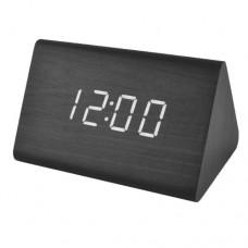 Часы деревянный брусок 864-6 салатовые +термометр, календарь