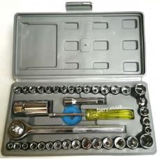 "Набор накидных ключей AIWA 1840 трещетка средняя 1/4""-3/8"", 40шт."
