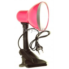 Лампа прищепка пластик 60Вт
