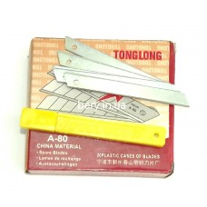 Лезвия стандартные для канцелярского ножа TongLong A-80, 200штук